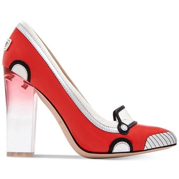 6fc4b0dd949 Katy Perry Collections Shoes - Katy Perry Red Thelma Race Car Retro Heels